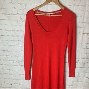 Victoria Secrets Red Long Maxi Sweater Dress